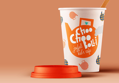 kid's cafe choochooboli brand identity